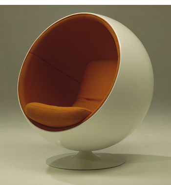 Ball Chair weiss orange